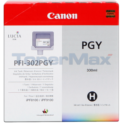 CANON PFI-302PGY PHOTO GRAY INK TANK 330 ML